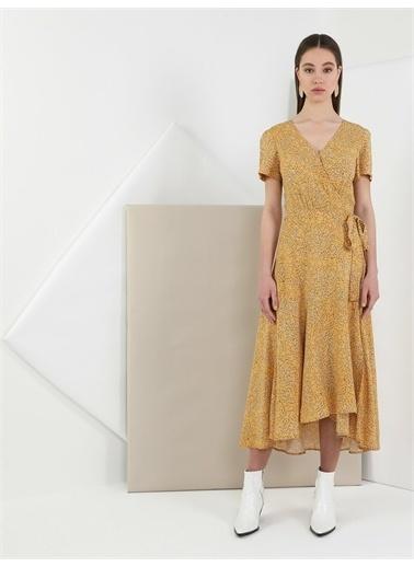 Colin's CL1049012_Q1.V1_MYL Slim Fit Sarı Kadın Elbise Sarı